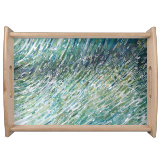 M. Juul著波の反射の自然な木製の皿 トレー