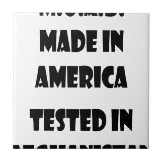M.O.A.B. アメリカで作られてアフガニスタンでテストしました タイル