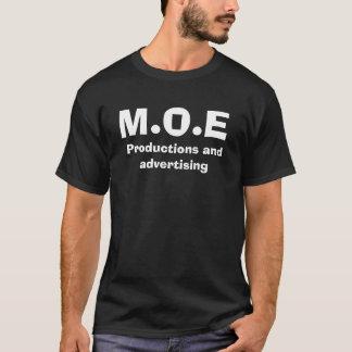 M.O.E、生産および広告 Tシャツ