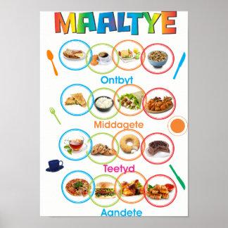 Maaltyeのアフリカーンスの食事はポスターを時間を計ります ポスター