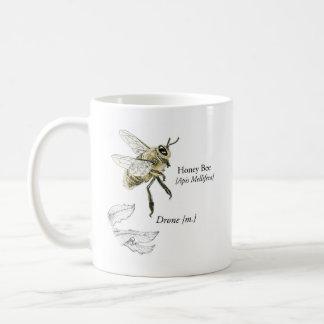MABAの蜂蜜の蜂の無人機のマグ コーヒーマグカップ