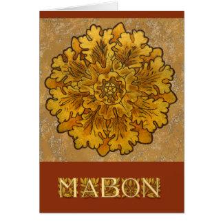 Mabonの円形のカシは集りを去ります ノートカード