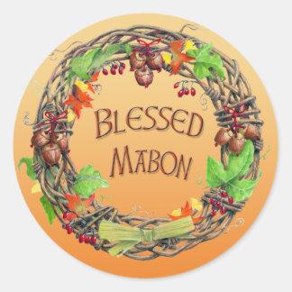 Mabonの賛美されたリース ラウンドシール