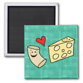 Mac愛チーズ、おもしろいでかわいいマカロニ + チーズ マグネット