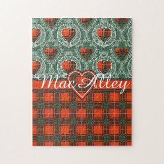 MacAlleyの一族の格子縞のスコットランドのキルトのタータンチェック ジグソーパズル