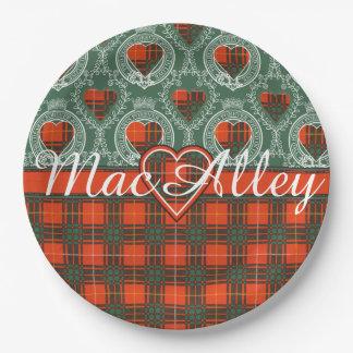 MacAlleyの一族の格子縞のスコットランドのキルトのタータンチェック ペーパープレート