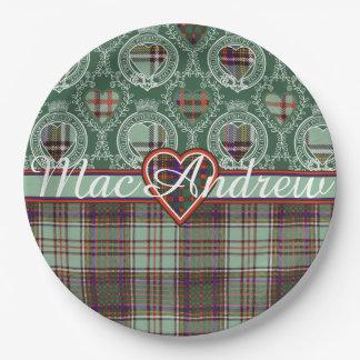 MacAndrewの一族の格子縞のスコットランドのキルトのタータンチェック ペーパープレート