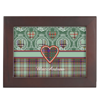 MacAndrewの一族の格子縞のスコットランドのキルトのタータンチェック 宝箱