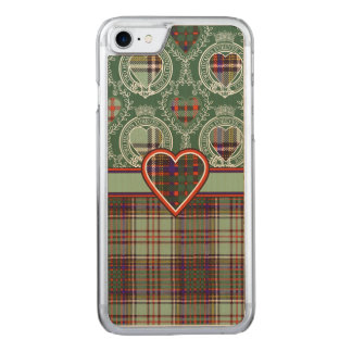 MacAndrewの一族の格子縞のスコットランドのキルトのタータンチェック Carved iPhone 8/7 ケース