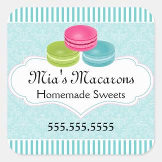 Macaronのベーカリー箱のシール スクエアシール