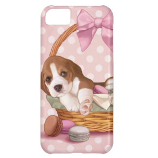 Macaroonのビーグル犬の子犬 iPhone5Cケース