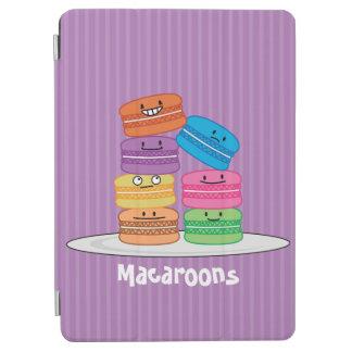 MacaroonのMacaroonsの幸せな食糧はMacaronの上で積み重なりました iPad Air カバー