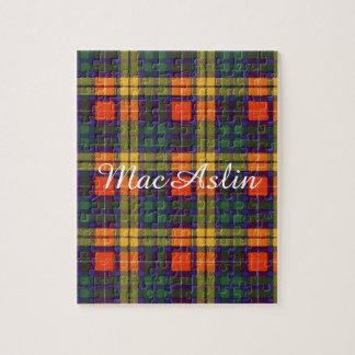 MacAslinの一族の格子縞のスコットランドのキルトのタータンチェックのパズル ジグソーパズル