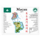 Macau Map Postcard ポストカード