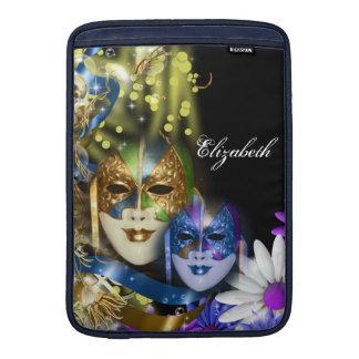 Macbookの空気ベニス風の仮面舞踏会のキンセアニェラのマスク MacBook スリーブ