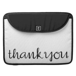 MacBookの筆記体の黒いプロ袖ありがとう MacBook Proスリーブ
