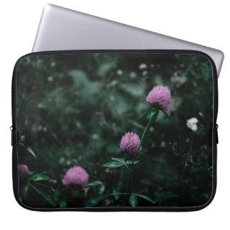 MacBookの緑および紫色のプロ袖 ラップトップスリーブ