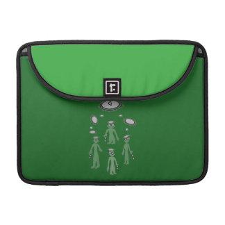 """Macbookプロ15は""""エイリアン""""の緑の黒にスリーブを付けます MacBook Proスリーブ"""