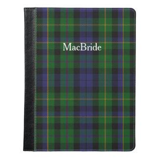 MacBrideのタータンチェック格子縞のiPadのフォリオ iPadケース