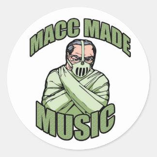 MACCは音楽ロゴを作りました ラウンドシール