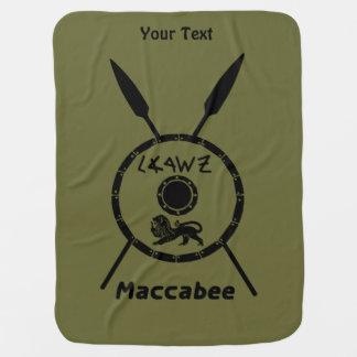 Maccabeeの抑制された盾およびやり ベビー ブランケット