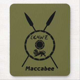 Maccabeeの抑制された盾およびやり マウスパッド