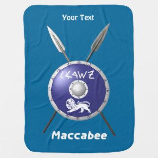 Maccabeeの盾およびやり ベビー ブランケット