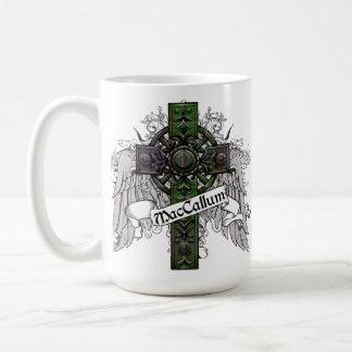 MacCallumのタータンチェックの十字 コーヒーマグカップ