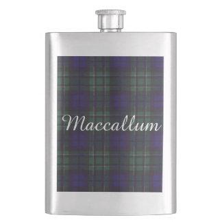 Maccallumの一族の格子縞のスコットランド人のタータンチェック フラスク