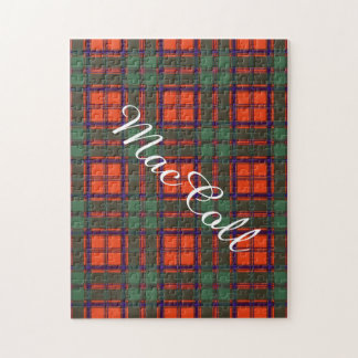 MacCollの一族の格子縞のスコットランドのキルトのタータンチェック ジグソーパズル