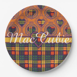 MacCubieの一族の格子縞のスコットランドのキルトのタータンチェック ペーパープレート