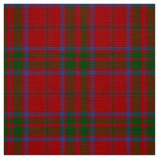 MacDonaldのタータンチェックの赤く、緑および青の格子縞の生地 ファブリック