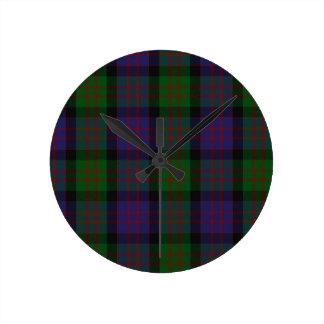 MacDonaldの一族のタータンチェック ラウンド壁時計