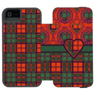 Macdonleavyの一族の格子縞のスコットランドのキルトのタータンチェック iPhone SE/5/5sウォレットケース