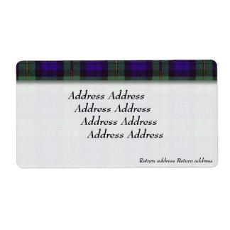 Macewenの一族の格子縞のスコットランド人のタータンチェック ラベル