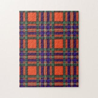 Macfarlaneの一族の格子縞のスコットランド人のタータンチェック ジグソーパズル