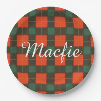 Macfieの一族の格子縞のスコットランド人のタータンチェック ペーパープレート