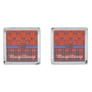 Macgillivaryの一族の格子縞のスコットランド人のタータンチェック シルバー カフスボタン
