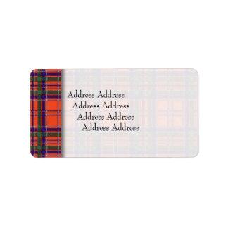 Macgillivaryの一族の格子縞のスコットランド人のタータンチェック ラベル