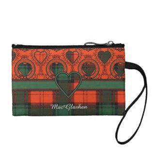MacGlashanの一族の格子縞のスコットランドのキルトのタータンチェック コインパース