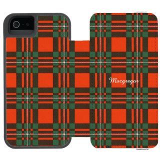 Macgregorの一族の格子縞のスコットランド人のタータンチェック iPhone SE/5/5sウォレットケース