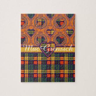 MacGrensichの一族の格子縞のスコットランドのキルトのタータンチェック ジグソーパズル