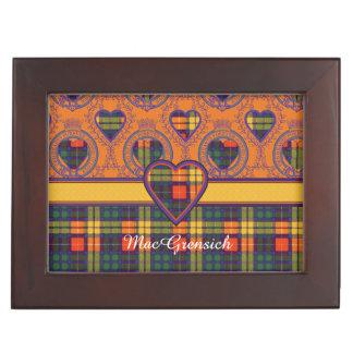 MacGrensichの一族の格子縞のスコットランドのキルトのタータンチェック 宝箱
