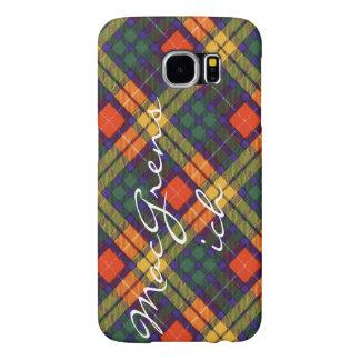 MacGrensichの一族の格子縞のスコットランドのキルトのタータンチェック Samsung Galaxy S6 ケース