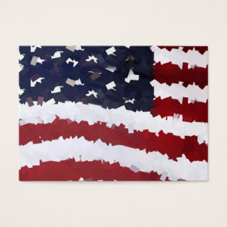 Macheのペーパー米国旗 名刺