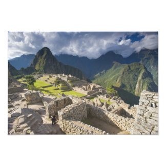 Machu Picchuの古代台なし、ユネスコの世界3 フォトプリント