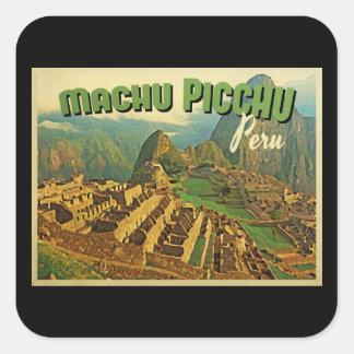 Machu Picchuペルー スクエアシール