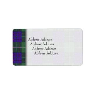 Macintyreの一族の格子縞のスコットランド人のタータンチェック ラベル