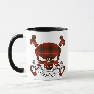 MacIverのタータンチェックのスカル マグカップ