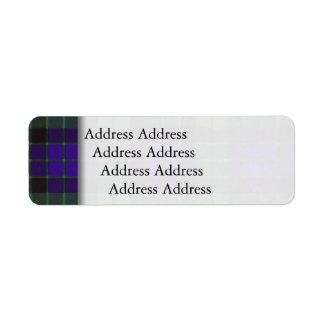 Mackayの一族の格子縞のスコットランド人のタータンチェック ラベル
